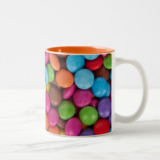 Chocolate candy rainbow colour Two-Tone coffee mug