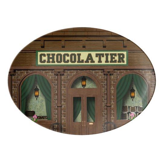 Chocolate candy shop Porcelain platter