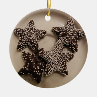 Chocolate Candy STars Christmas Ornament