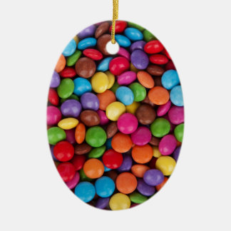 Chocolate Candy Sweets Ceramic Oval Decoration