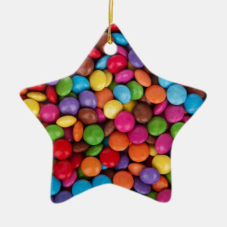 Chocolate Candy Sweets Ceramic Star Decoration
