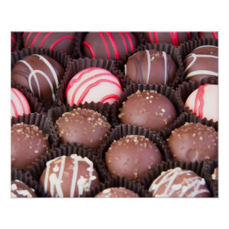 Chocolate Candy Truffle Poster