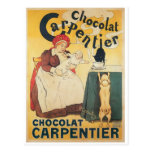 Chocolate Carpentier Vintage Hot Chocolate Ad Art Postcard