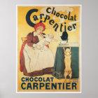 Chocolate Carpentier Vintage Hot Chocolate Ad Art Poster