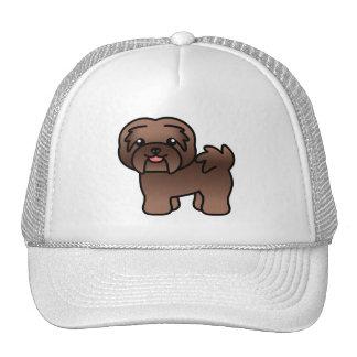 Chocolate Cartoon Havanese Mesh Hats