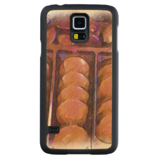 Chocolate Carved Maple Galaxy S5 Case