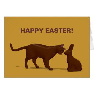 Chocolate Cat Card