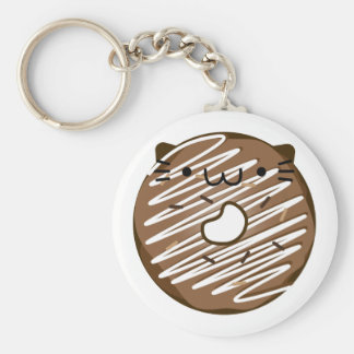 Chocolate Cat Donut Keychain