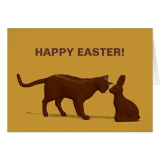 Chocolate Cat Greeting Card