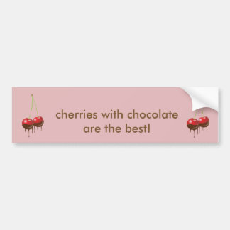 Chocolate cherries bumper sticker
