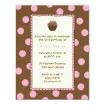 Chocolate Cherry Cupcake Invitations
