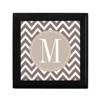 Chocolate Chevron Custom Monogram Gift Box