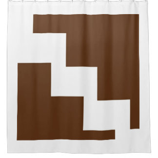 Chocolate Chevron Shower Curtain