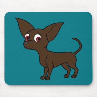 Chocolate Chihuahua with Short Hair Mouse Pad