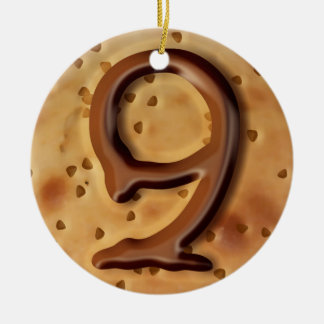 Chocolate chip cookie 3d effect illustration christmas ornament