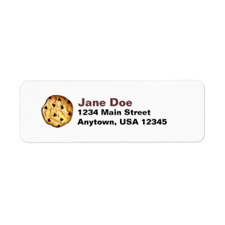 Chocolate Chip Cookie Address Labels