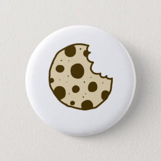 Chocolate Chip Cookie Button | Doodle Badge