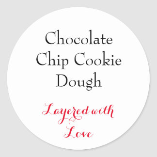 Chocolate Chip Cookie Dough label
