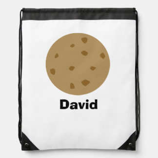 Chocolate Chip Cookie Drawstring Bag