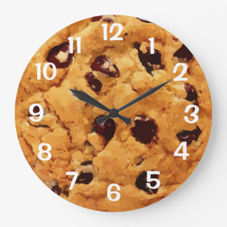 Chocolate Chip Cookie Large Clock