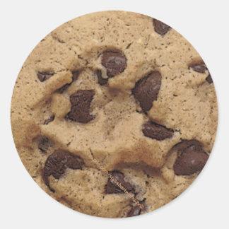 """""""Chocolate Chip Cookie Munch"""" Round Sticker"""