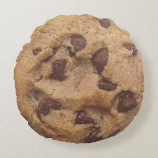 Chocolate Chip Cookie Novelty Round Cushion