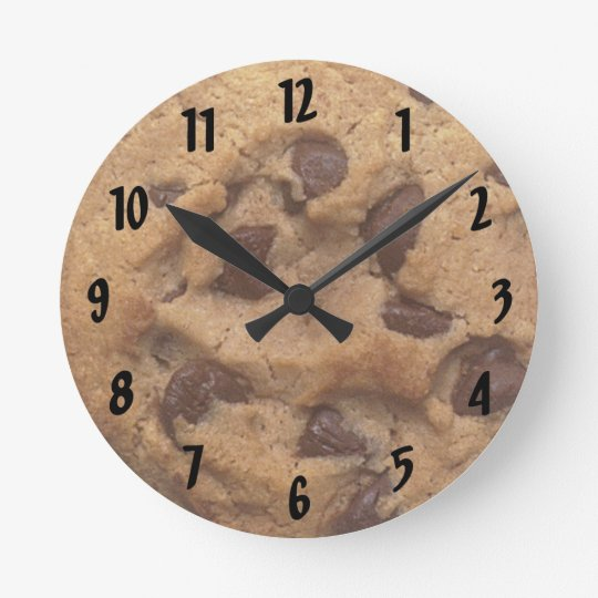 Chocolate Chip Cookie Numbered Wall Clock
