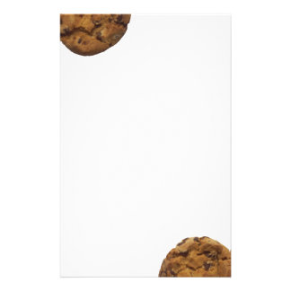 Chocolate chip cookie personalized stationery