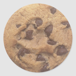 Chocolate Chip Cookie Round Sticker