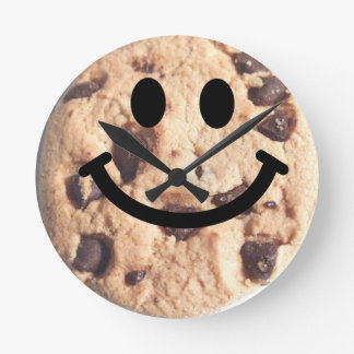 Chocolate chip Cookie Smiley Face Clock
