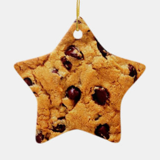 Chocolate Chip Cookie Star Ornament