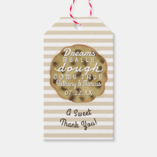 Chocolate Chip Cookie Wedding Treats Dreams Dough Gift Tags