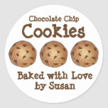 Chocolate Chip Cookies Baked Made w/ Love Stickers