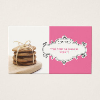 Chocolate Chip Cookies Business Cards {Pink}