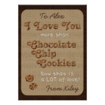 Chocolate Chip Crispy Yummy Cookies Golden Brown Posters