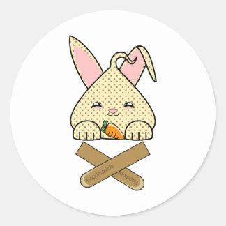 Chocolate Chip Hopdrop Crossticks Sticker