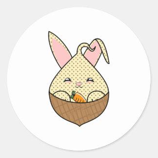 Chocolate Chip Hopdrop Mini Waffle Cone Round Stickers