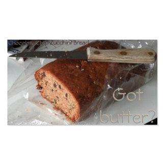 Chocolate Chip Zucchini Bread business card
