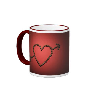 Chocolate Chips Heart Ringer Mug