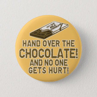 Chocolate Chocoholic 6 Cm Round Badge