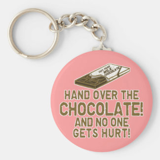 Chocolate Chocoholic Basic Round Button Key Ring