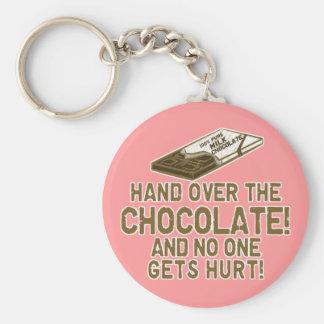 Chocolate Chocoholic Basic Round Button Key Ring