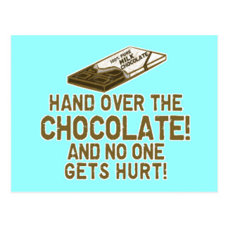 Chocolate Chocoholic Postcards