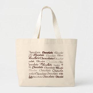 Chocolate, Chocolate, Chocolate, Chocolate, Cho... Large Tote Bag