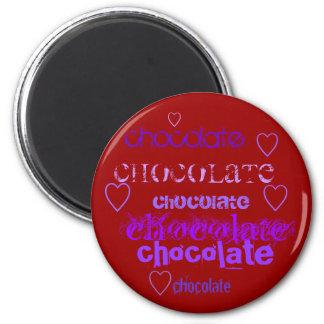 chocolate, chocolate, chocolate, chocolate, cho... refrigerator magnet