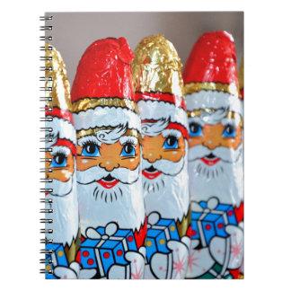 Chocolate Christmas Santa Claus Notebook