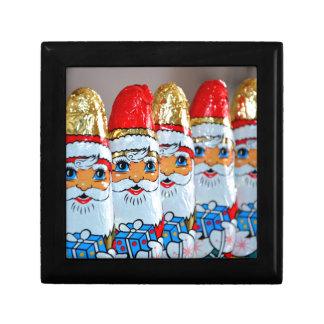 Chocolate Christmas Santa Claus Small Square Gift Box