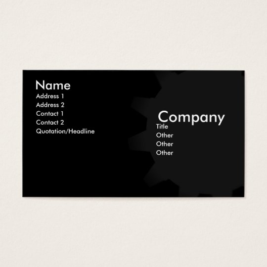 Chocolate City Business Card
