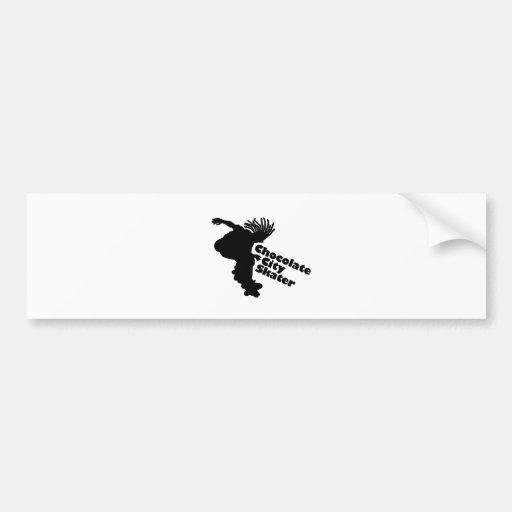 Chocolate City Skater Bumper Stickers