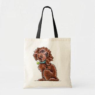 Chocolate Cockapoo Heart Collar Budget Tote Bag